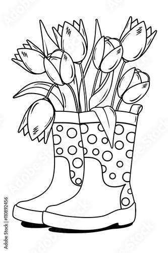 Tulpe Mit Zwiebel Ausmalbild Stockfotos Und Lizenzfreie Bilder