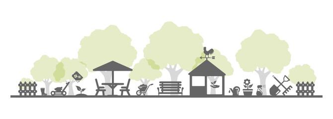 Garten und Bäume