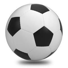Soccer ball on white background. Include clipping Path.