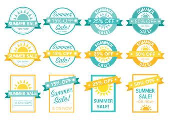 summer sale tag set