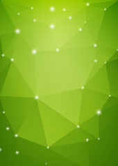 Abstract green triangle background in eco style