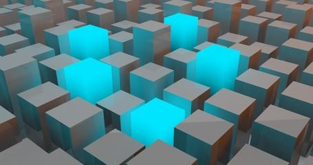 Cube blocks box background