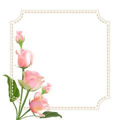 Delicate vector roses