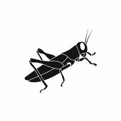 Grasshoppers icon in simple style