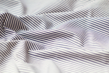 Striped fabric waved texture