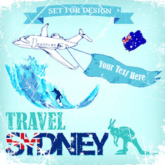 background travel to Sydney.vector illustration