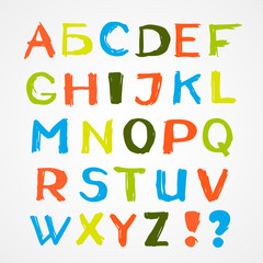 Colorful English alphabet
