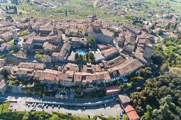 The medieval town of Lucignano in Tuscany - Italy