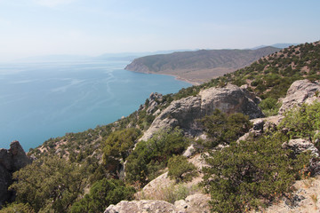 Landscape with sea and mountains, Crimea