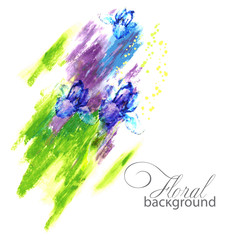 colorful abstract background.flowers and paint.vector illustration