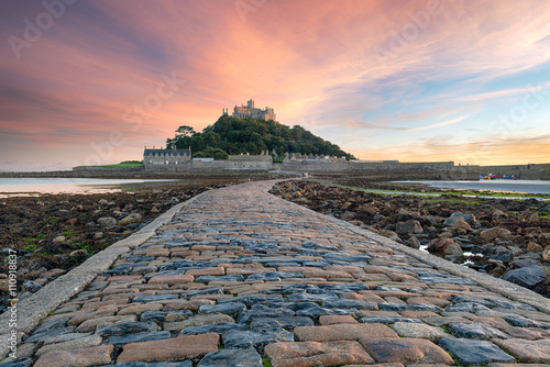 Wall mural St Michaels Mount in Cornwall