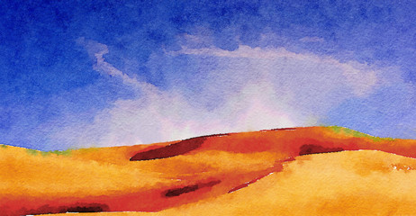 Imperial sand dunes on Paper