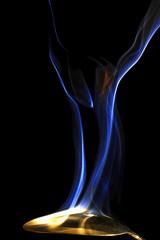 Colorful smoke in human like shape