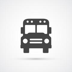 Trendy flat Bus icon. Vector