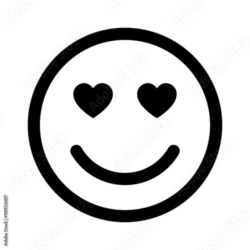 smiley face in love line art icon for apps and websites stock image rh fotolia com vector smiley face vector smiley face cry