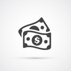 Money dollar flat trendy icon. Vector