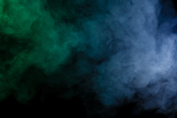 Abstract blue-green smoke hookah.