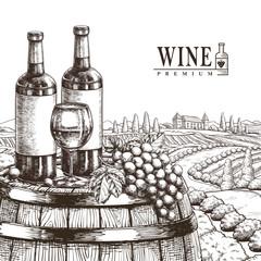 exquisite winery poster design