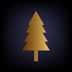 New year tree sign