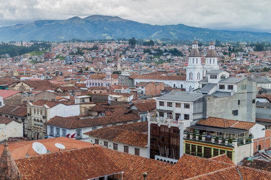 Aerial view of Cuenca, Ecuador
