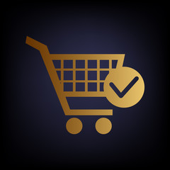 Shopping Cart and Check Mark Icon