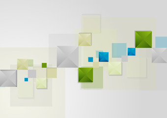 Abstract bright geometric tech background