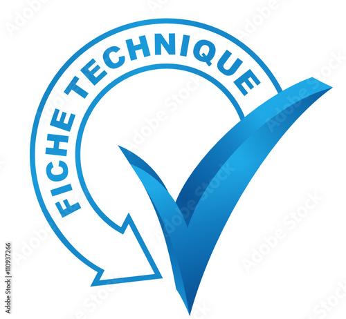 fiche technique sur symbole valid bleu fichier vectoriel libre de droits sur la banque d. Black Bedroom Furniture Sets. Home Design Ideas