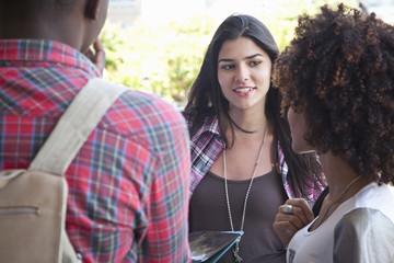Students friends talking