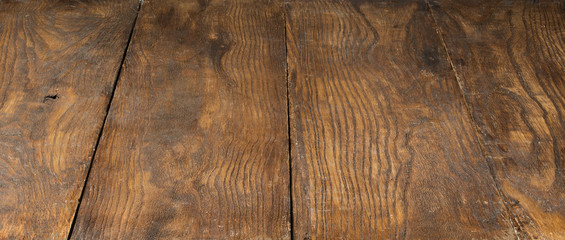 empty old brown wooden background