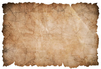Wall Mural - old pirates treasure map isolated