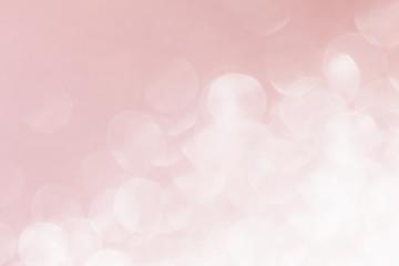 Abstract blurred background. Pink background. Rose quartz color, trend color background. Bokeh.