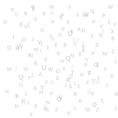 Vector Abstract Alphabet background