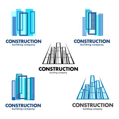 Architect construction concept. Vector logos for construction and building companies