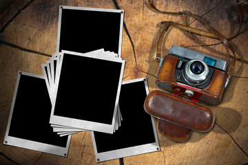 Old Camera and Instant Photo Frames