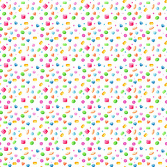 Hand drawn sweet watercolor  buttons seamless pattern for paper and fabric design