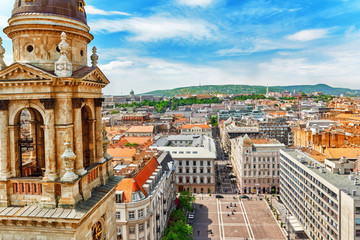 Wall Mural - Center of Budapest, View from the St.Stephen Basilica.