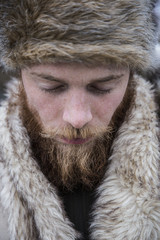 Mid adult man with beard, portrait