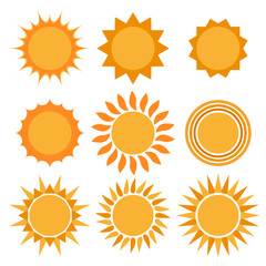 Sun icons collection.