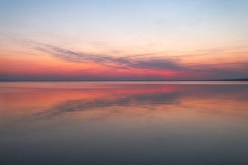 Colorful sunset on the water