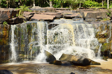 Waterfall in Tad Tone National Park, Chaiyaphum, Thailand.
