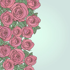 Cute floral seamless pattern background with text place