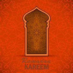 Ramadan Greeting Card on Ornamental Background. Ramadan Kareem Holiday.