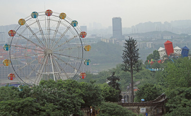 park in one of districts, Chongqing, China