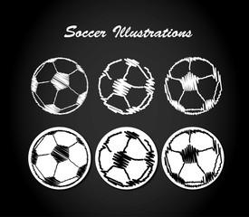 Fussball skizzen design