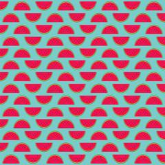 watermelon fruit pattern background design vector