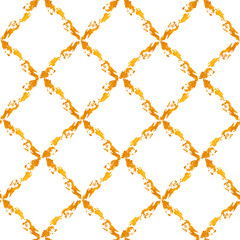 Pattern with gold painted rhombs