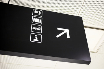 Airport Directional Arrow Sign