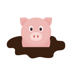 cartoon pig in dirt