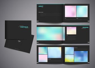 Vector portfolio template modern design