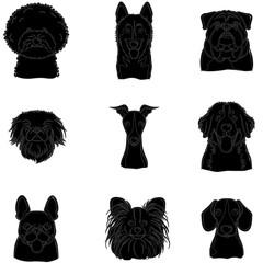 Animals silhouette. Dog